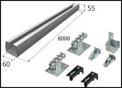 Комплект DoorHan для откатных ворот с балкой 60 х 55 (до 350 кг.)