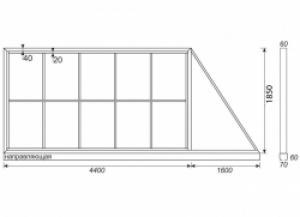 Комплект для сборки откатных ворот до 4 метров