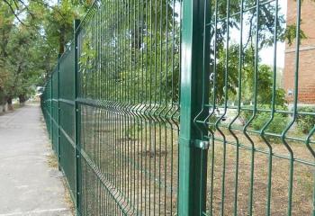 Забор из 3д сварных панелей