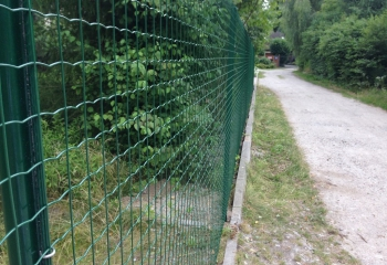 забор из рулонной сетки