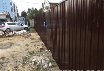 Забор из профнастила 2 метра