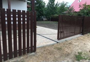 Автоматические ворота - наполнение штакетник
