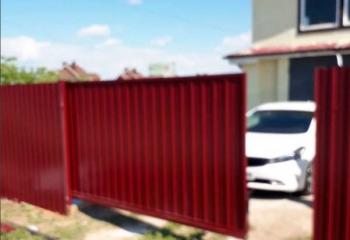 откатные ворота профнастил